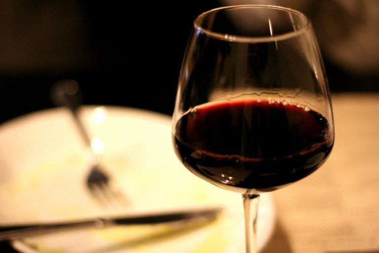 red wintery wine at Osteria Marco