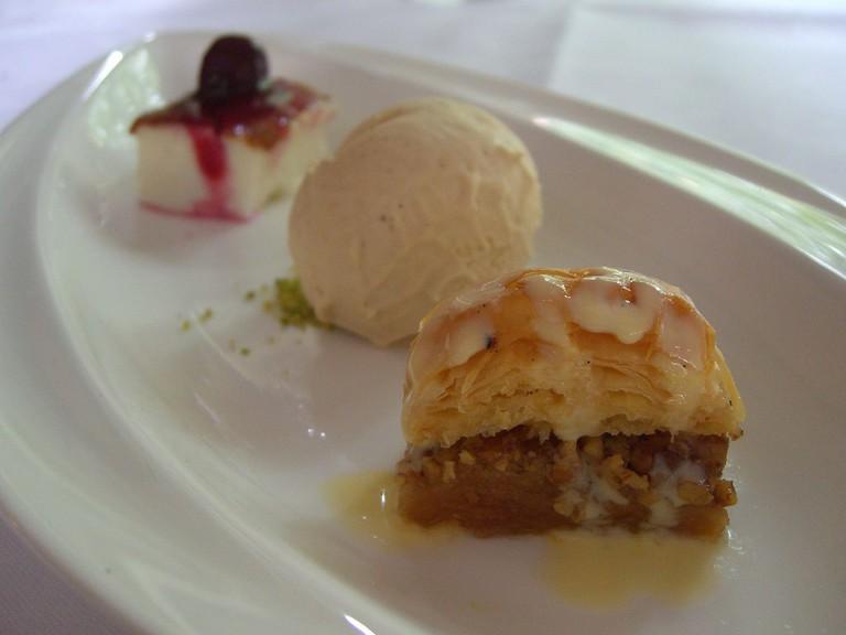 Baklava, Pomegranite Ice-Cream