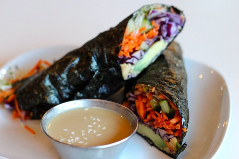 An enticing seaweed roll