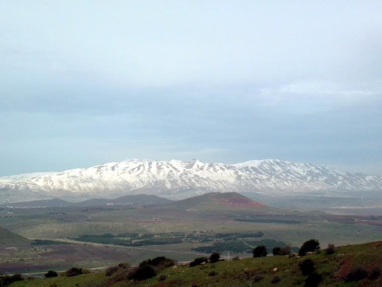 View of The Hermon Mountain