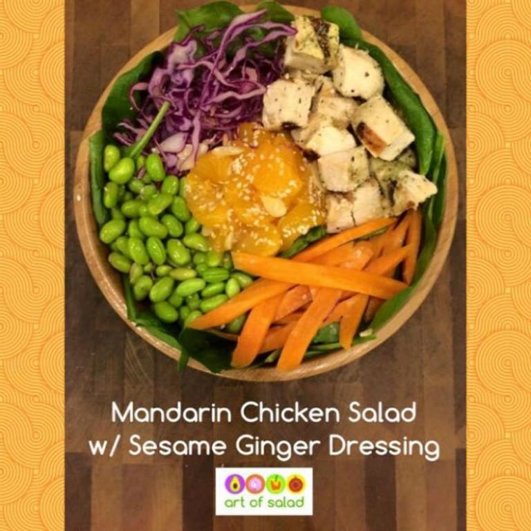 Art of Salad's signature Mandarin salad