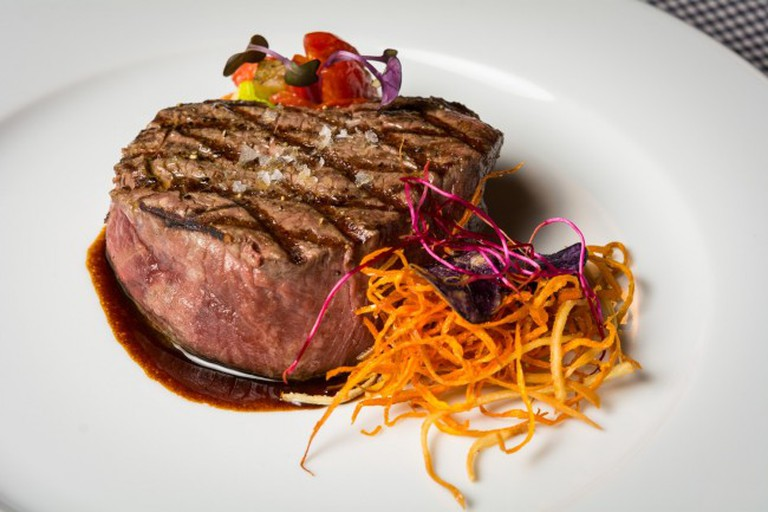 A steak at Bila Krava