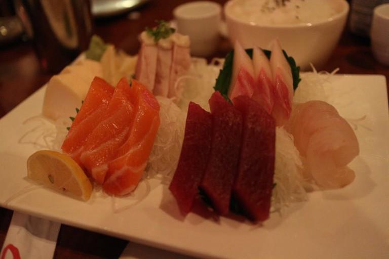 Sashimi at Shimizu Japanese Cuisine