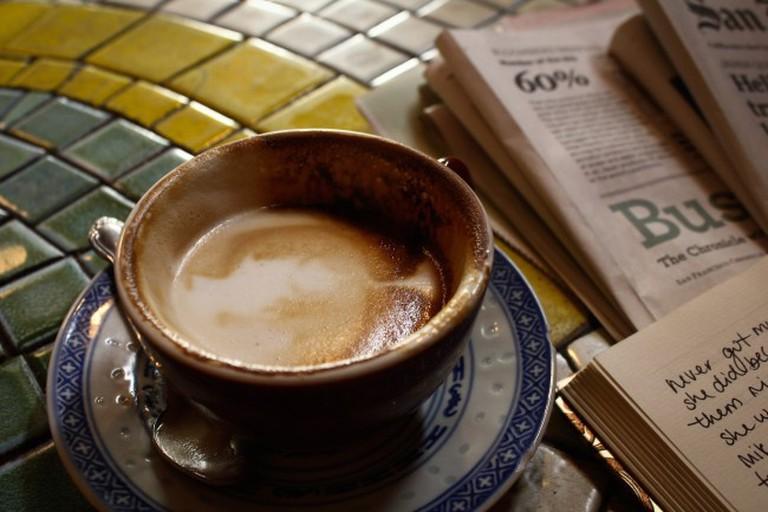 Latte at Caffe Trieste