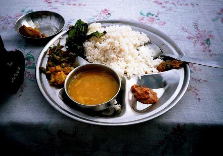 Dal-bhat-tarkari - traditional Nepalese dish