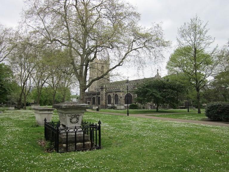 St Dunstan's Church and its huge churchyard