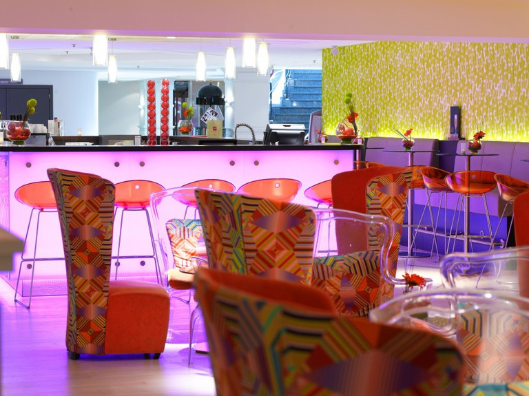 The quirky interior of the lounge bar