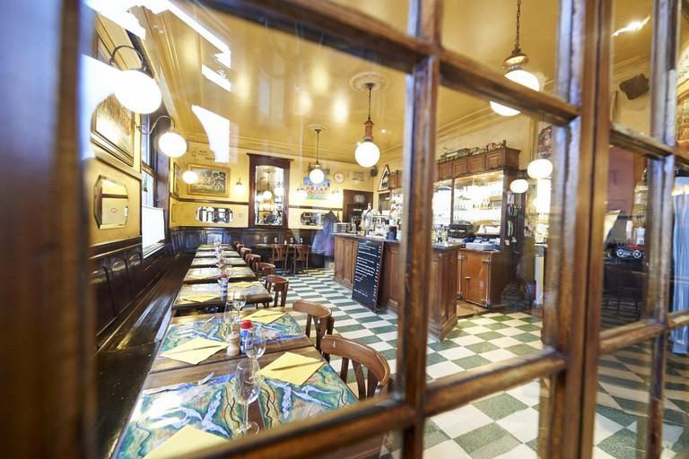 The charming interior of Brasserie de la Gare