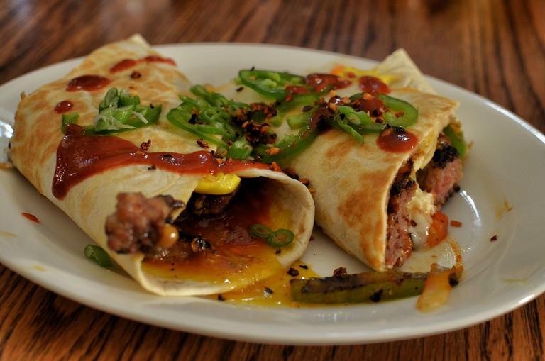 Mmm... breakfast burrito