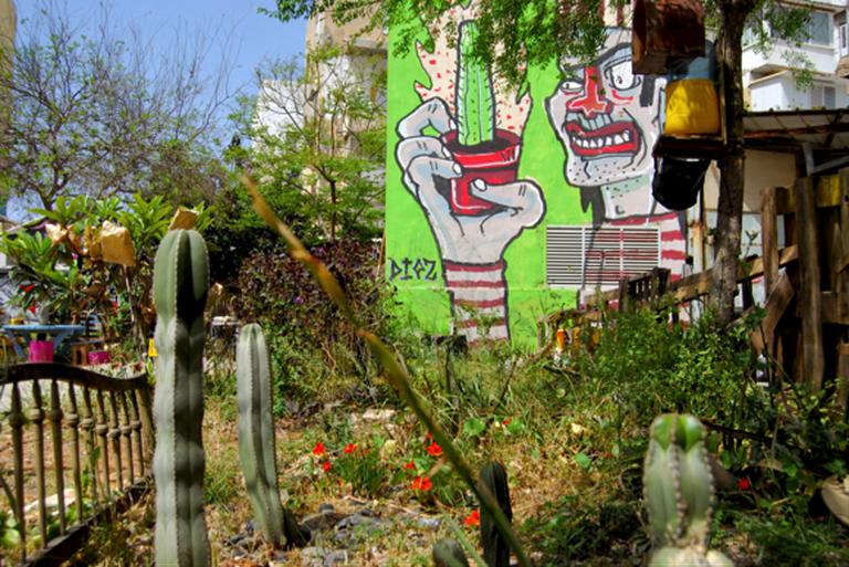 Volunteering garden in South Tel Aviv