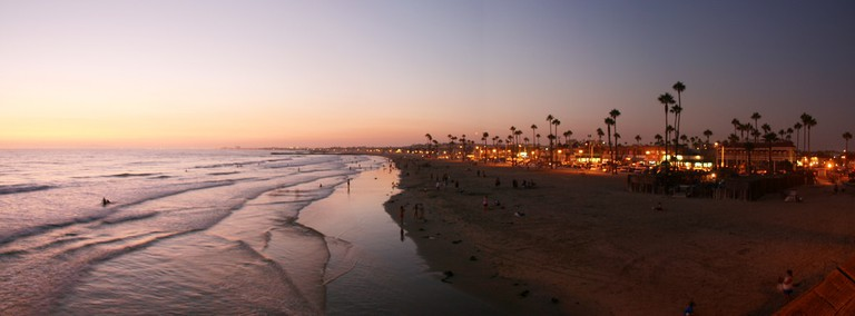 Newport Beach Pier, located steps from most of the bars.