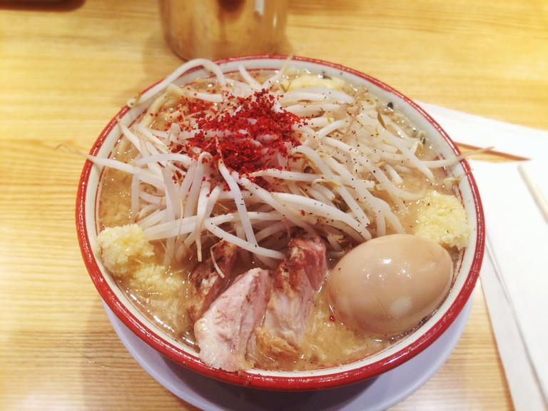 A bowl of ramen at Tsujita Annex