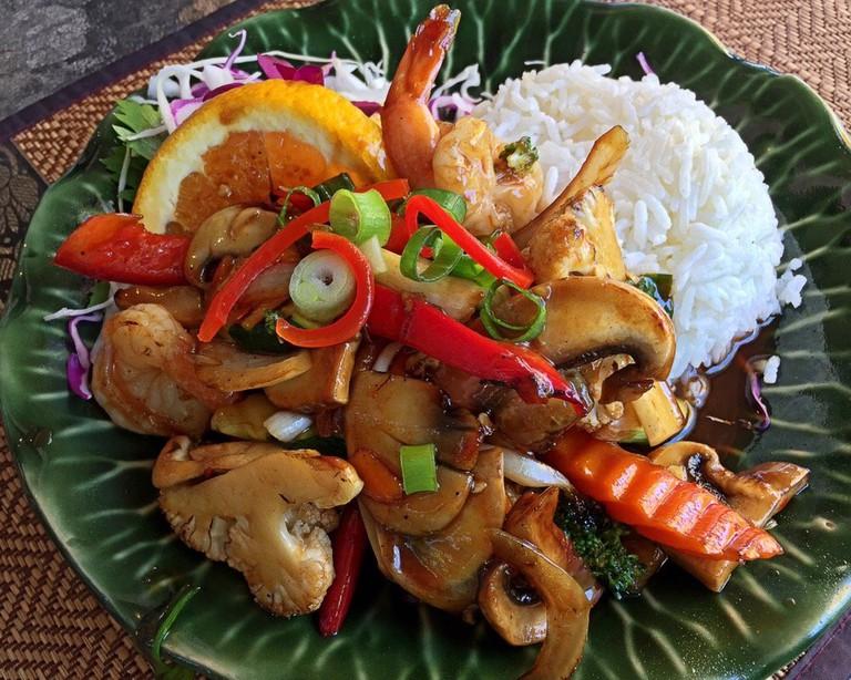 Chilli king prawn stir fry