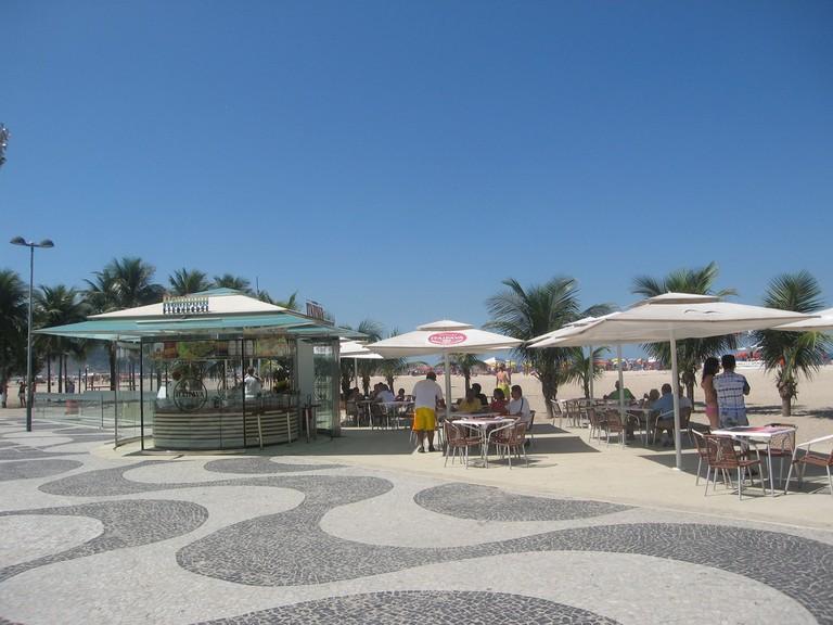 A typical beach kiosk