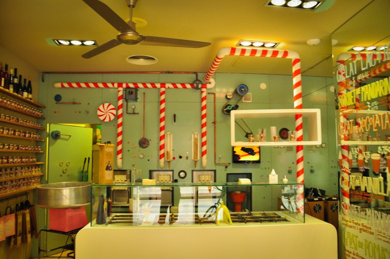 The Rocambolesc ice cream parlour