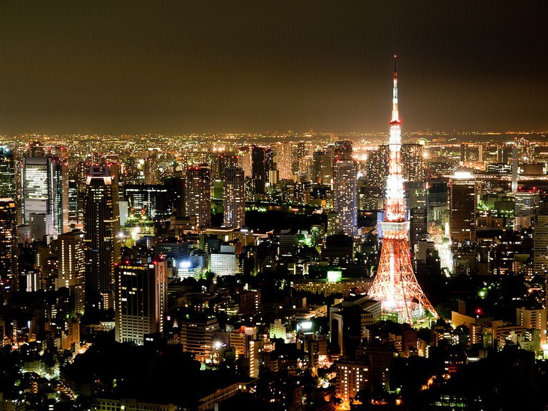 Tokyo panorama as seen from Roppongi Hills