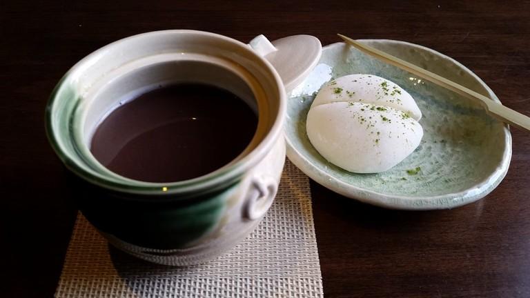 Rum Oshiruko with Mochi Ice Cream at Bar Goto