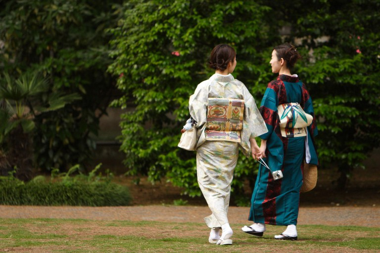 A simple and more colorful kimono