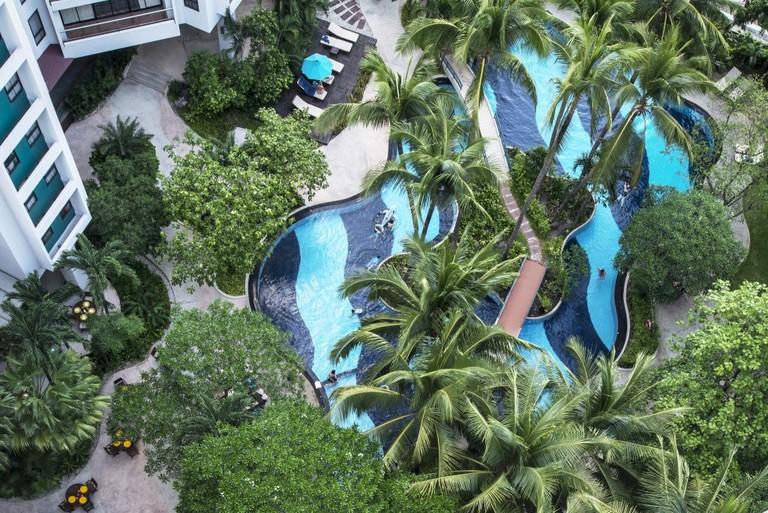 Swimming Pool At The Chatrium Residence Sathon Bangkok