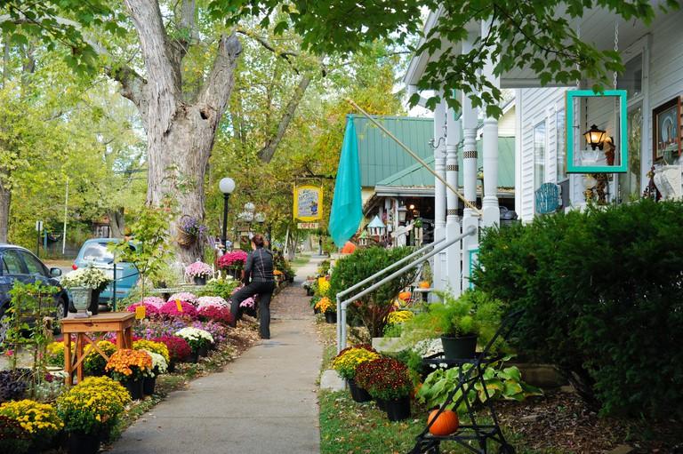 Nashville, Indiana shops, tourist attraction.