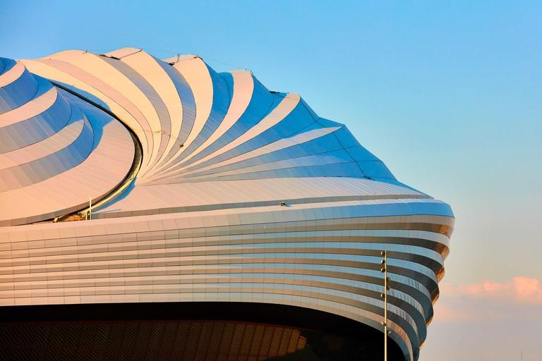 Al Janoub stadium inAl Wakrah landmark of Qatar build specially for the soccer world cup