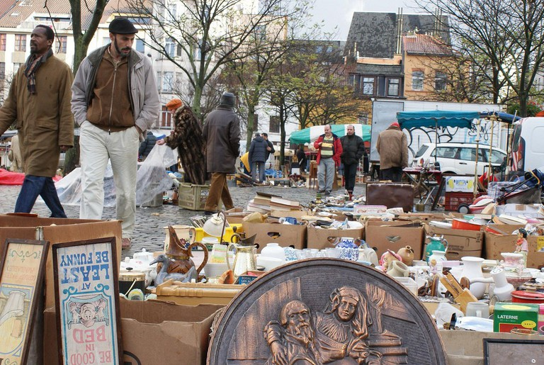Anything and everything is for sale on the Marolles flea market