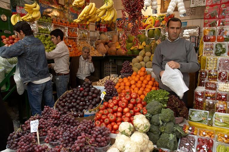 Fresh produce of Tajrish Bazaar