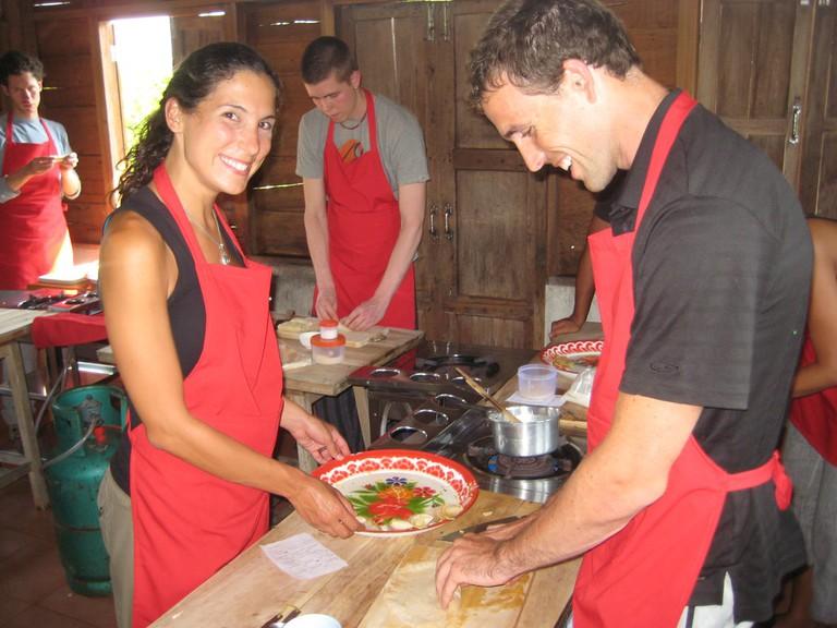 Fun at Thai Farm Cooking School