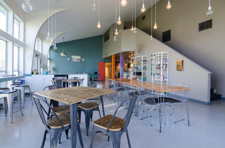 Guests at HI Austin Hostel can rent out bikes and yoga mats