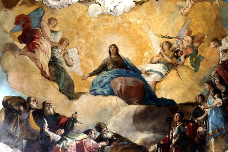 Goya painting in Zaragoza, Spain
