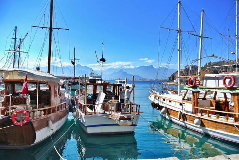 Harbour view at Antalya, Turkey