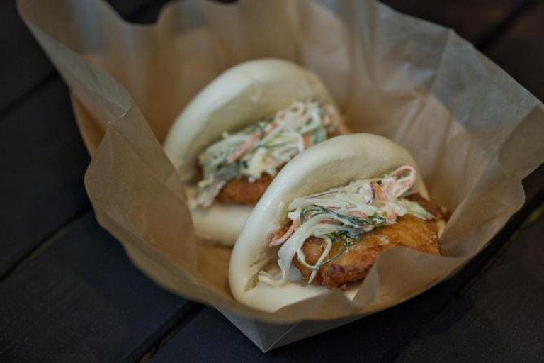 Beer & Buns serves fluffy buns alongside a menu of independent Japanese beers and sake