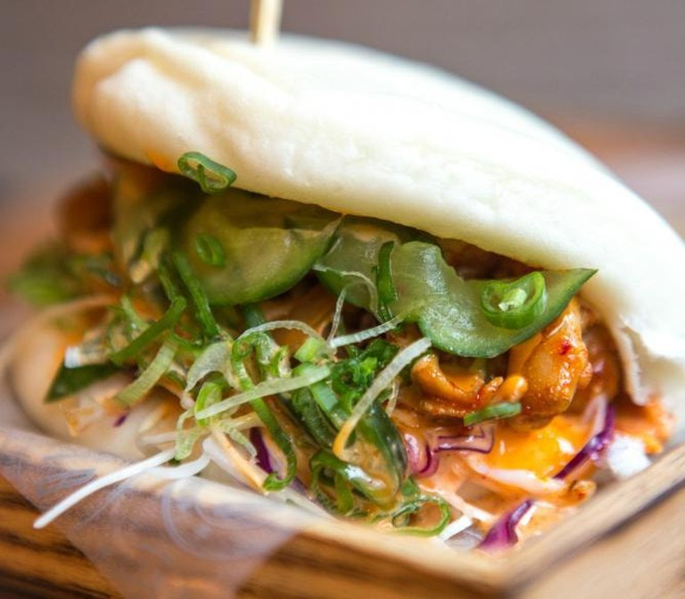 On the Bab's pork bun drips with juicy deliciousness