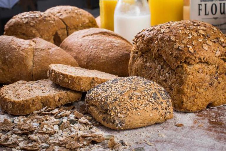 Fresh organic bread