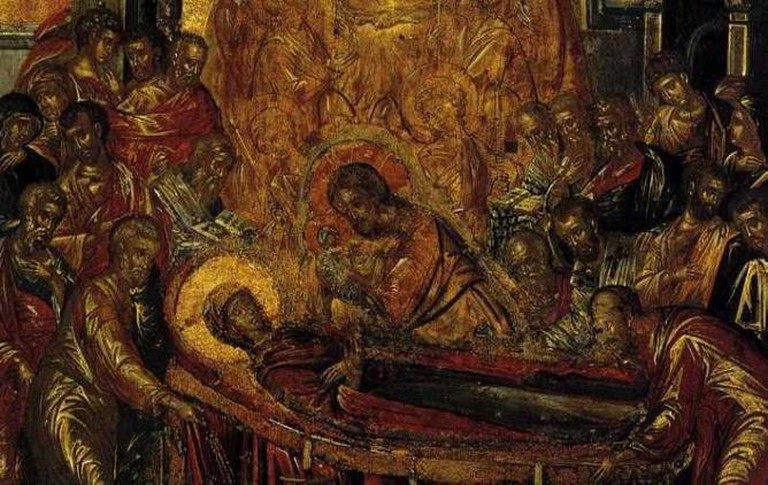 'The Dormition of the Virgin' detail