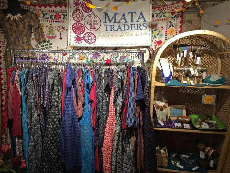 Selection of garments at Mata Traders