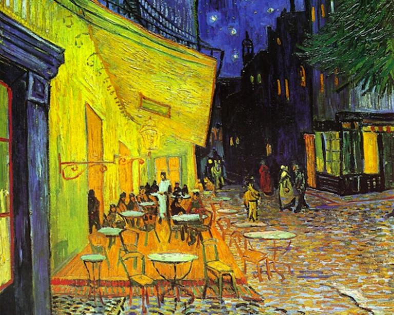 Terrasse de Cafe la Nuit, Van Gogh