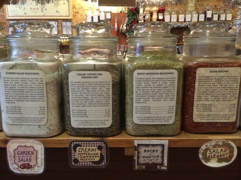 Spice mixes at The Spice House