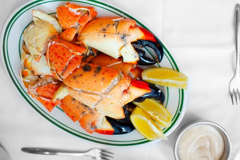 Jumbo stone crabs at Joe's Stone Crab.