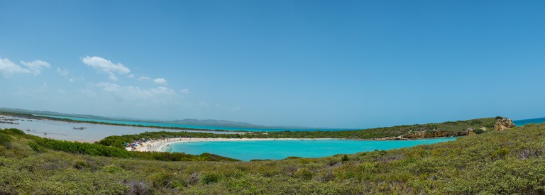 View of Playa Sucia from the Cabo Rojo Lighthouse