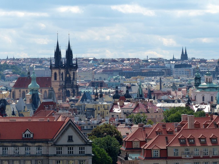 Old Town Prague seen from Letna Park