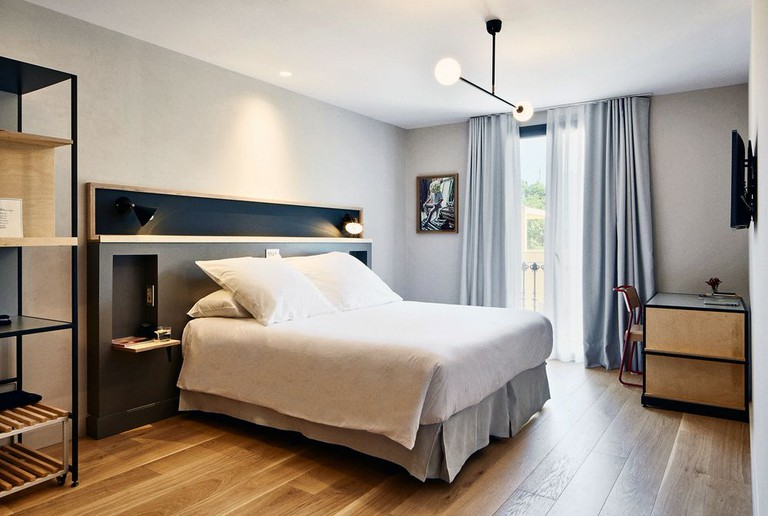 This warehouse-like hotel is in the trendy Poble Sec neighborhood