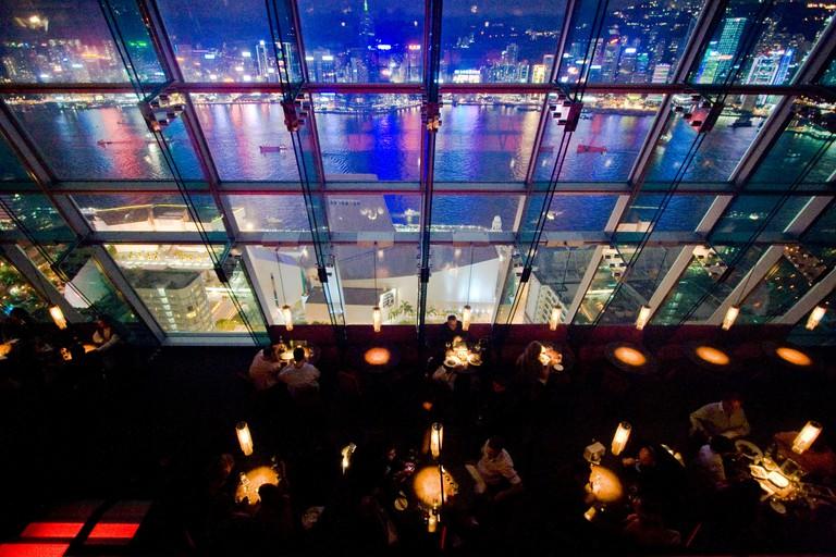 Aqua Bar and Restaurant in Hong Kong