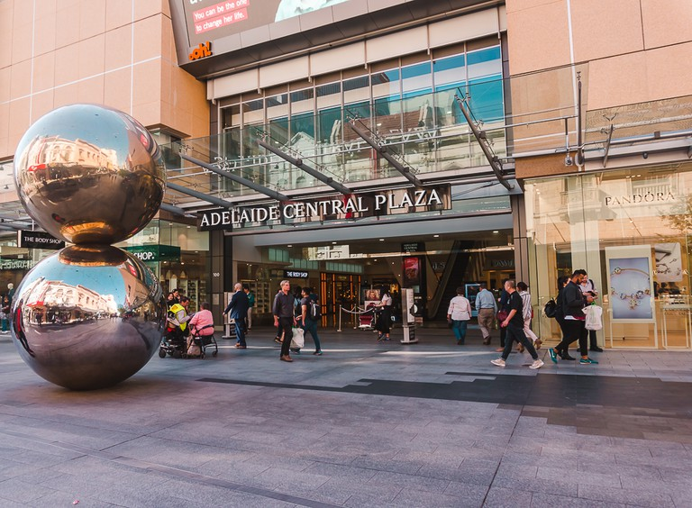 Rundle Mall is home to some very interesting landmarks and sculptures