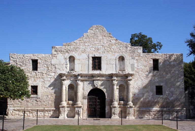 The Alamo in San Antonio, Texas. The Alamo looms large in Texas history
