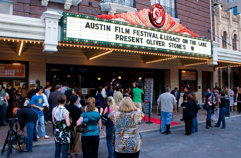 Austin Film Festival premier of Oliver Stone film W at Paramount Theatre in Austin, Texas, USA.