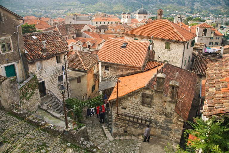Back streets in Kotor, Montenegro
