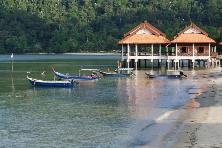 Beach at Palau Pangkor Islamd in Malaysia