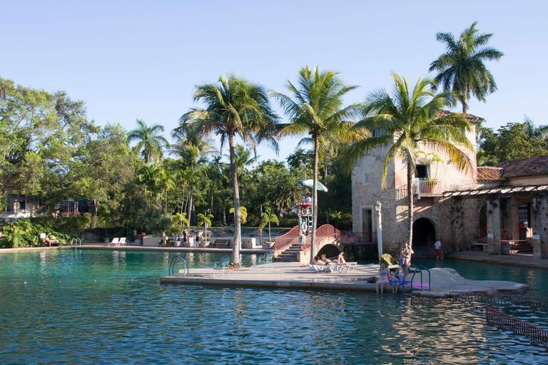 Swimming pool, Venetian Pools in Coral Gables, Miami, Florida, USA