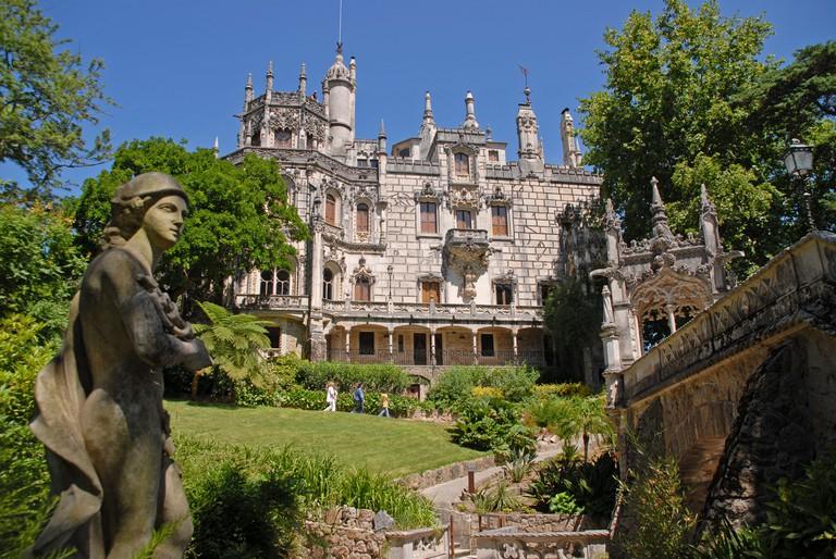 A view of the Palacio e Quinta da Regaleira in Sintra, Portugal.